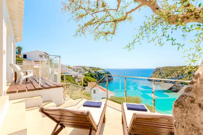Seafront Villa Bellavista with private pool in Minorca