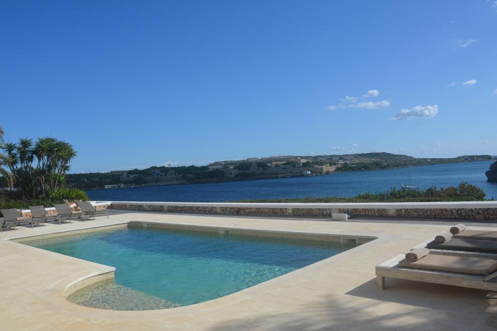 Spectacular villa Casa Sant Ana with views overlooking the Port of Mahon and the Isla del Rey