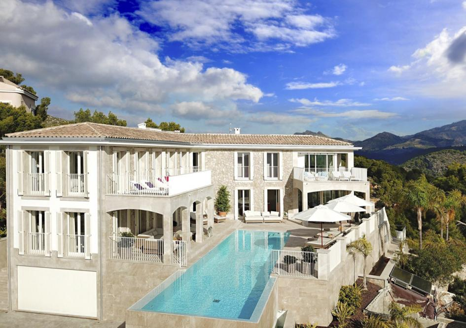 Deluxe Mirador with panoramic views and infinity pool over the bay of Port D'Andratx