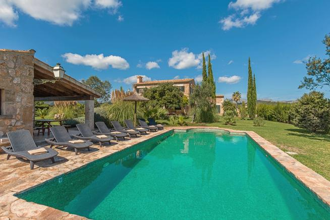 Traditional Mallorcan Villa Roya with stunning gardens and private swimming pool.