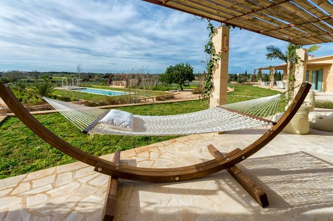 Luxury Villa El Idilio to rent in Ses Salines, Santanyi, Mallorca