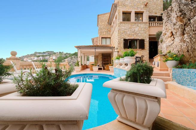 Puerto de Andratx holiday villa rental in Cala Llamp, Majorca