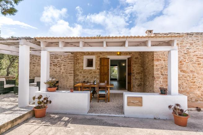 Casa Piedra is a homely country home in formentera, Spain
