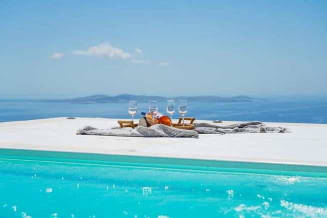 Villa Sandstone is a beautiful stone villa with incredible sea views in Mykonos, Greece
