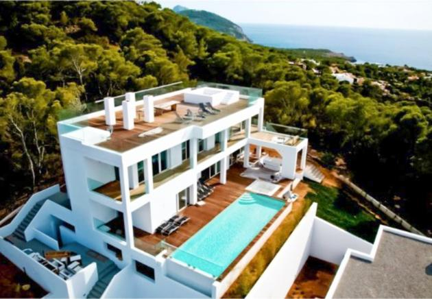 Newly built villa with excellent views in Ibiza, sa Talaia