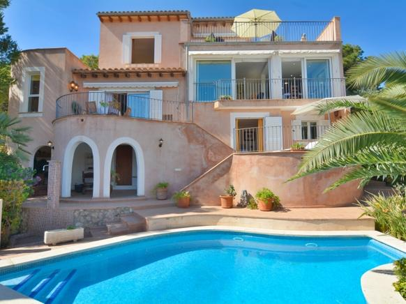 Luxury villa with pool and stunning views of the sea in La Mola, Port d 'Andratx