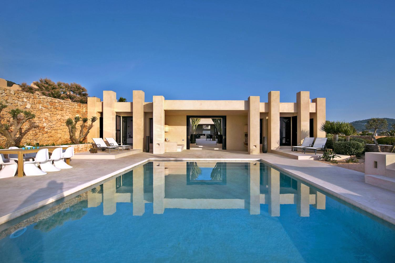 Villa Arenil is a luxury holiday villa with breathtaking sea views in Ibiza